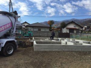 南アルプス市G様の注文住宅の基礎工事