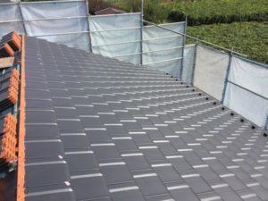 笛吹市M様の注文住宅の屋根工事